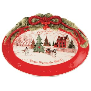 Home Warms the Heart Serving Tray (Set of 2)