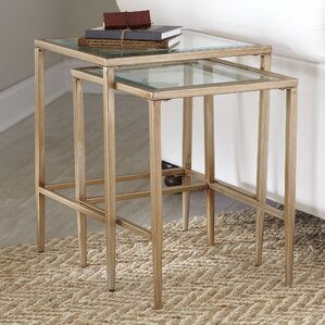 2-Piece Emma Nesting Table Set by Birch Lane (Set of 2)