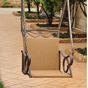 Valencia Wicker Porch Swing