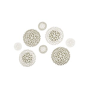 8-Piece Floral Wall Decal Set