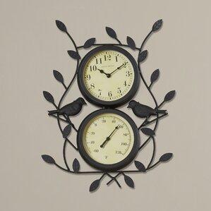 Birdie Indoor/Outdoor Clock & Thermometer