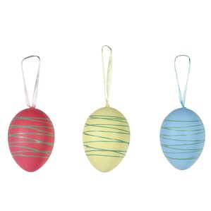 12-Piece Drizzled Egg Ornament Set