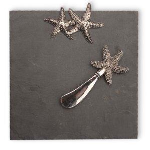 2-Piece Starfish Cheese Board & Spreader Set