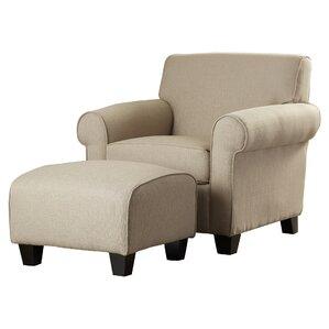 2-Piece Winnetka Arm Chair & Ottoman Set