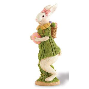 Standing Bunny with Dress Statuette