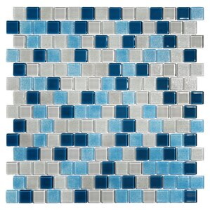 """Tides 0.75"""" x 0.75"""" Glass Mosaic Tile in Big Sky"""