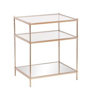McKinnon Mirrored End Table