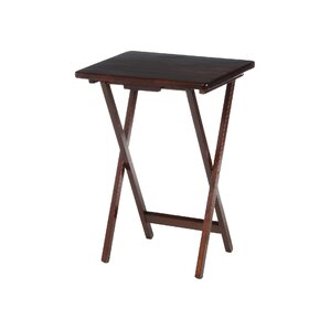 Wilma Folding Tray Table in Walnut (Set of 4)