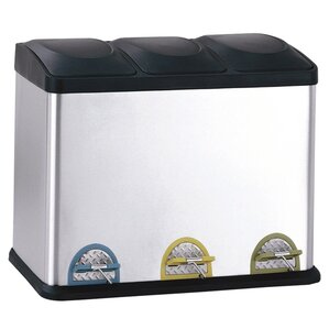 3-Compartment Recycling Bin