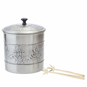 Old Dutch Ice Bucket with Liner & Tongs