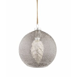Pinecone Orb Ornament (Set of 4)
