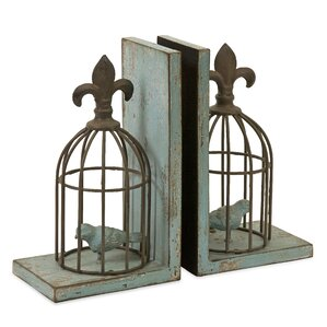 Birdcage Bookends (2-Pc.) (Set of 2)