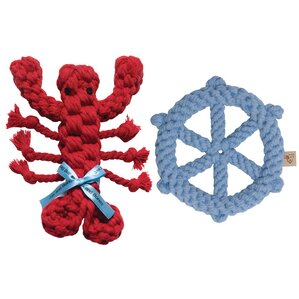 2 Piece Good Karma Toy Set - Lobster and Ship Wheel