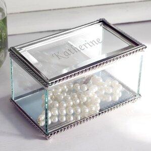 Engraved Glass Jewelry Box
