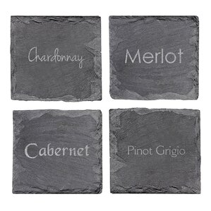 Wine Slate Coaster (Set of 4)