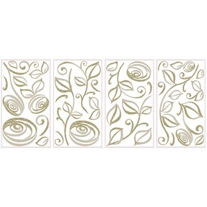 33-Piece Roses Wall Decal