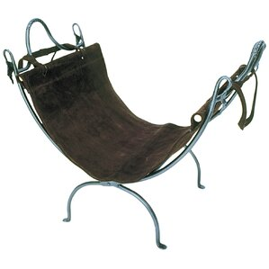 Wrought Iron Log Carrier and Stand