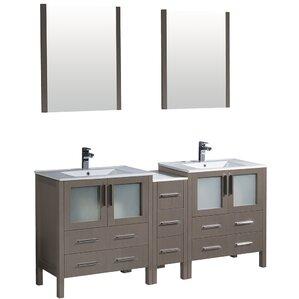 Kelsey Double Vanity Set & Mirror