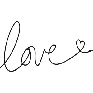 I Write My Love For You Wall Decal