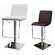Whiteline Imports Gia Adjustable Height Swivel Bar Stool with Cushion