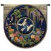 Fine Art Tapestries Abstract Cloisonne Lapis by Acorn Studios Tapestry