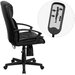 Flash Furniture High-Back Leather Massaging Executive Chair with Arms