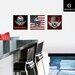 Eurographics A Skulls Wings 3-Piece Wall Tattoo Set