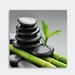 Eurographics Bamboo On The Black Graphic Art Glass Art
