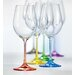 Ella Sabatini 6 Piece Rainbow 0.35L Wine Glass Set