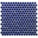 """EliteTile Penny 0.8"""" x 0.8"""" Porcelain Mosaic Tile in Cobalt"""
