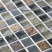 """EliteTile Sierra 0.625"""" x 0.625"""" Glass and Natural Stone Mosaic Tile in Wisp"""