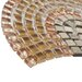 """EliteTile Sierra 0.563"""" x 0.563"""" Glass and Natural Stone Mosaic Tile in Arch Toffee"""