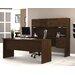 Bestar Harmony U-Shape Computer Desk with Hutch