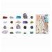 Fallen Fruits 24 Piece Decorative Minerals Mixed Box Sculpture Set