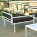 Modern Outdoor Talt Low 5 Piece Deep Seating Group with cushions