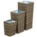 Maze Rattan Winchester 3 Piece Square Planter Set