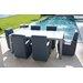 SkyLine Design Axis Dining Arm Chair with Cushion