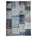 Happy Friday Hand-Woven Grey/Blue Area Rug