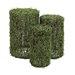 Woodland Imports The Bold 3 Piece Polyester Vine Pedestal Sculpture Set