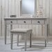 Gallery Parisian House Kiss 3 Drawer Dressing Table