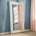 Gallery Carved Louis Leaner Mirror