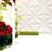 "Inhabit Chrysalis Wall Flat 18' x 18"" Floral and Botanical 3D Embossed 10 Piece Panel Wallpaper"