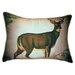 Betsy Drake Interiors Lodge Deer in Snow Indoor/Outdoor Lumbar Pillow