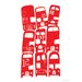 Art Group Stacking Buses by Birorobot Graphic Art on Canvas