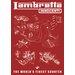 Art Group Lambretta Worlds Finest Scooter Vintage Advertisement Canvas Wall Art