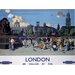 """Art Group London """"9"""" Vintage Advertisement Plaque"""
