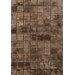 Bowron Sheepskin Shortwool Design Hand-Woven Brown Area Rug