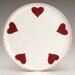 ECP Design Ltd Hearts 27cm Bone China Heart Plate