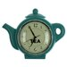 Juliana Impressions Hometime Teal Teapot Wall Clock
