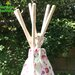 Garden Games Girl's Pink Flower and Butterfly Wigwam Play Tent